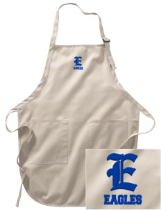 Coppin Academy Eagles Embroidered Full-Length Apron with Pockets