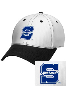 University of Wisconsin-Stout Blue Devils Embroidered New Era Snapback Performance Mesh Contrast Bill Cap