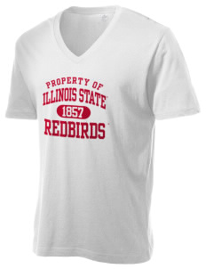 Illinois State University Redbirds Alternative Men's 3.7 oz Basic V-Neck T-Shirt