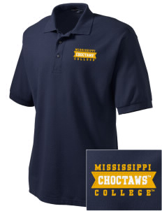 Mississippi College Choctaws Embroidered Men's Silk Touch Polo