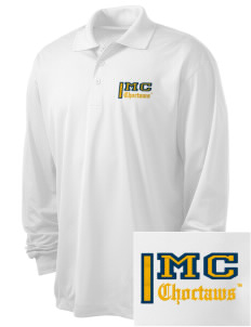 Mississippi College Choctaws Embroidered Men's Long Sleeve Micropique Sport-Wick Sport Shirt