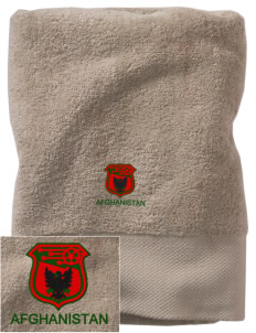Afghanistan Soccer Embroidered Zero Twist Resort Towel