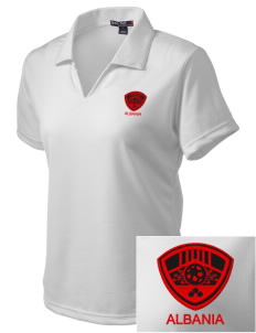 Albania Soccer Embroidered Women's Dri Mesh Polo