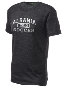 Albania Soccer Embroidered Alternative Unisex Eco Heather T-Shirt