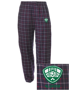 Algeria Soccer Embroidered Men's Button-Fly Collegiate Flannel Pant