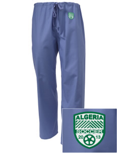 Algeria Soccer Embroidered Scrub Pants