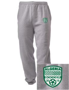 Algeria Soccer Embroidered Men's Sweatpants with Pockets