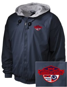 American Samoa Soccer Embroidered Holloway Men's Hooded Jacket