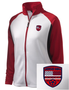 American Samoa Soccer Embroidered Holloway Women's Reaction Tri-Color Jacket