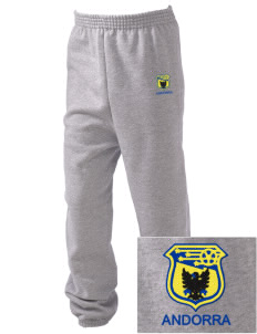 Andorra Soccer Embroidered Kid's Sweatpants