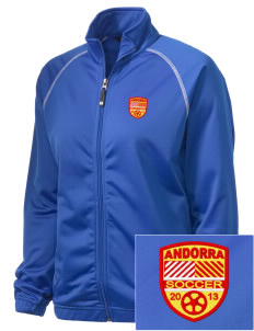 Andorra Soccer Embroidered Holloway Women's Attitude Warmup Jacket