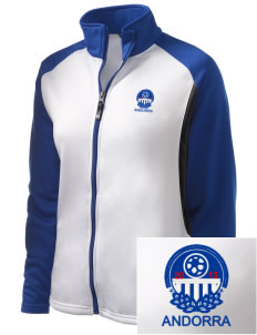 Andorra Soccer Embroidered Holloway Women's Reaction Tri-Color Jacket