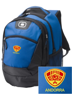 Andorra Soccer Embroidered OGIO Rogue Backpack