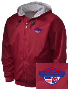 Antigua and Barbuda Soccer Embroidered Holloway Men's Hooded Jacket