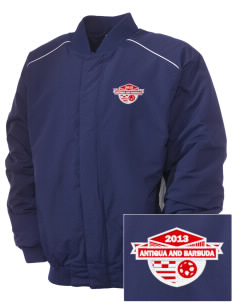 Antigua and Barbuda Soccer Embroidered Russell Men's Baseball Jacket