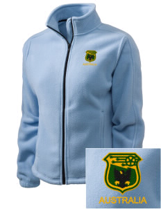 Australia Soccer Embroidered Women's Fleece Full-Zip Jacket