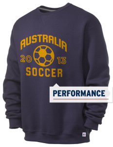 Australia Soccer  Russell Men's Dri-Power Crewneck Sweatshirt