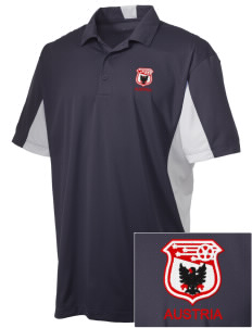 Austria Soccer Embroidered Men's Side Blocked Micro Pique Polo