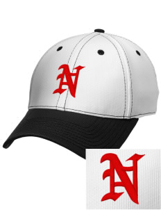 Neshobe Elementary School Braves Embroidered New Era Snapback Performance Mesh Contrast Bill Cap