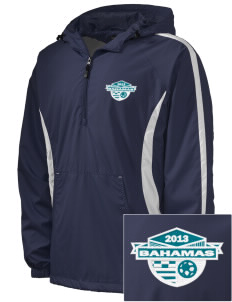 Bahamas Soccer Embroidered Men's Colorblock Raglan Anorak