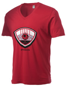 Bahrain Soccer Alternative Men's 3.7 oz Basic V-Neck T-Shirt
