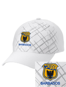 Barbados Soccer Embroidered Mixed Media Cap