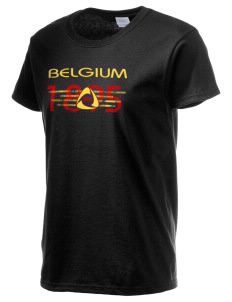 Belgium Soccer Women's 6.1 oz Ultra Cotton T-Shirt
