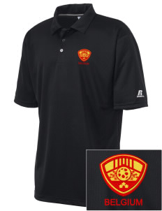 Belgium Soccer Embroidered Russell Coaches Core Polo Shirt