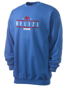 Belize Soccer Men's 7.8 oz Lightweight Crewneck Sweatshirt