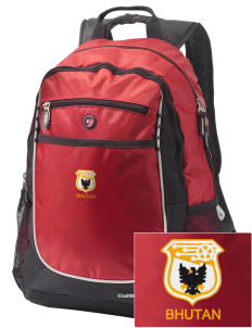 Bhutan Soccer Embroidered OGIO Carbon Backpack