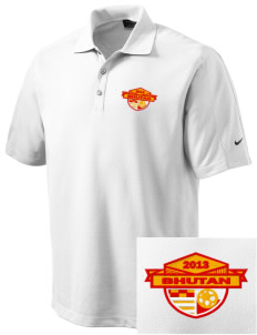 Bhutan Soccer Embroidered Nike Men's Dri-FIT Pique II Golf Polo