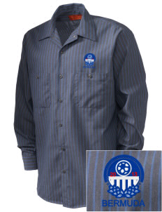 Bermuda Soccer Embroidered Men's Industrial Work Shirt - Regular