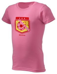 Bolivia Soccer  Girl's Fine Jersey Longer Length T-Shirt