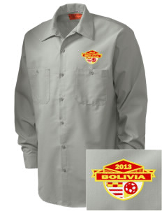 Bolivia Soccer Embroidered Men's Industrial Work Shirt - Regular