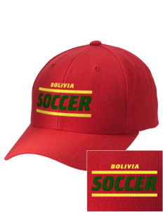 Bolivia Soccer Embroidered Wool Adjustable Cap