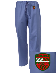 Bolivia Soccer Embroidered Scrub Pants