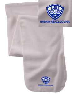 Bosnia-Herzegovina Soccer  Embroidered Extra Long Fleece Scarf