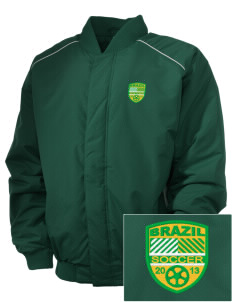 Brazil Soccer Embroidered Russell Men's Baseball Jacket