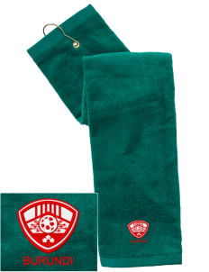 Burundi Soccer Embroidered Hand Towel with Grommet