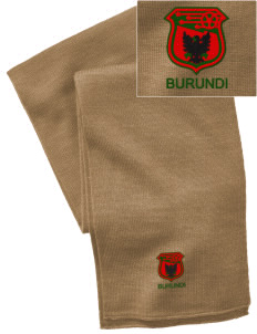 Burundi Soccer  Embroidered Knitted Scarf