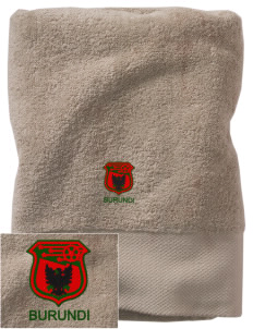 Burundi Soccer Embroidered Zero Twist Resort Towel