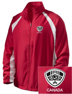 Canada Soccer  Embroidered Men's Full Zip Warm Up Jacket