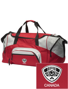 Canada Soccer Embroidered Colorblock Duffel Bag
