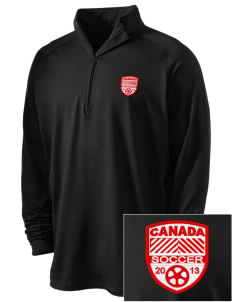 Canada Soccer Embroidered Men's Stretched Half Zip Pullover