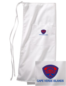 Cape Verde Islands Soccer Embroidered Full Bistro Bib Apron