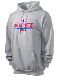 Cape Verde Islands Soccer Men's 7.8 oz Lightweight Hooded Sweatshirt