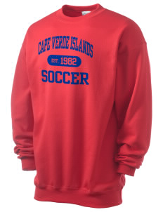 Cape Verde Islands Soccer Men's 7.8 oz Lightweight Crewneck Sweatshirt