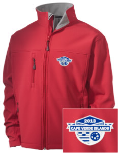 Cape Verde Islands Soccer Embroidered Men's Soft Shell Jacket