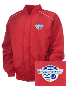 Cape Verde Islands Soccer Embroidered Russell Men's Baseball Jacket
