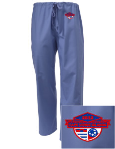 Cape Verde Islands Soccer Embroidered Scrub Pants